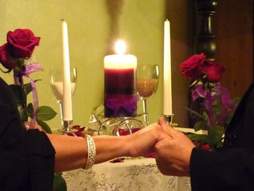 hand poured unity candles for wedding ceremony, custom made candles with prayers, spell candles