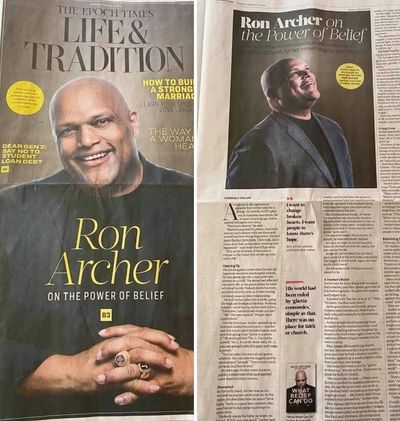 A recent feature story about Ron Archer in the Epoch Times.