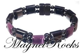 Beautifully Bold Jewelry Collection Amethyst Magnetic Hematite Bracelet