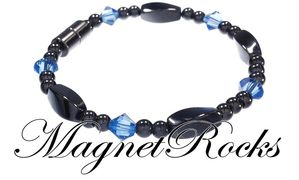 Simply Seductive Jewelry Collection Sapphire Crystal Magnetic Hematite Bracelet