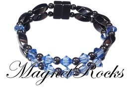 Unity Jewelry Collection Sapphire Crystal Magnetic Hematite Bracelet