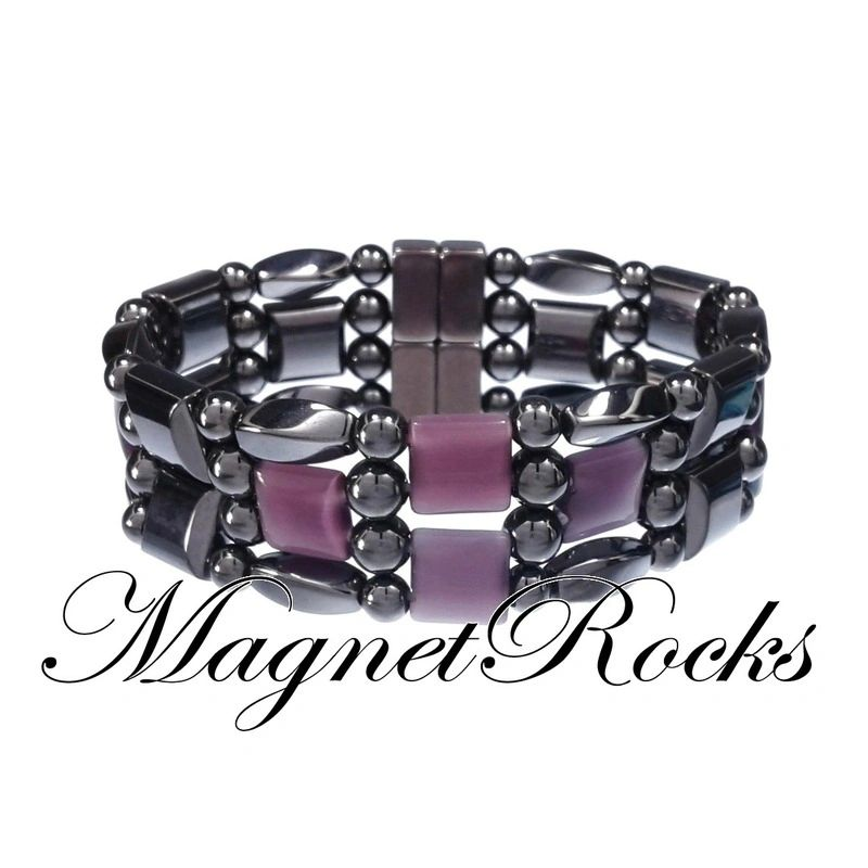 4x4 Jewelry Collection Amethyst Magnetic Hematite Bracelet