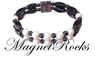 Unity Jewelry Collection Pearlescent White Pearl Magnetic Hematite Bracelet