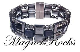 Quad Jewelry Collection Blue Goldstone Magnetic Hematite Bracelet