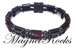 Beautifully Bold Jewelry Collection Red Tiger Eye Magnetic Hematite Bracelet