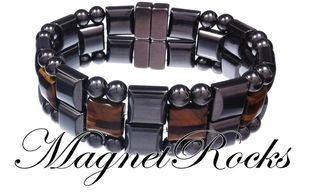 Quad Jewelry Collection Golden Tiger Eye Magnetic Hematite Bracelet
