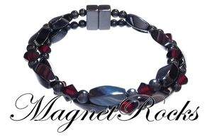 Infinity Jewelry Collection Siam Crystal Magnetic Hematite Bracelet