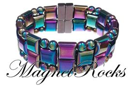 Quad Jewelry Collection Rainbow Magnetic Hematite Bracelet