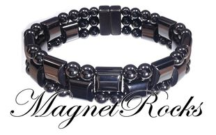 Triple Threat Jewelry Collection Hematite Magnetic Bracelet.