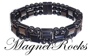 Triple Threat Jewelry Collection Magnetic Hematite Bracelet