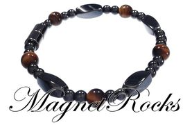 Simply Seductive Jewelry Collection Golden Tiger Eye Magnetic Hematite Bracelet