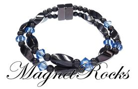 Infinity Jewelry Collection Sapphire Crystal Magnetic Hematite Bracelet