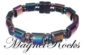 Beautifully Bold Jewelry Collection Rainbow Magnetic Hematite Bracelet