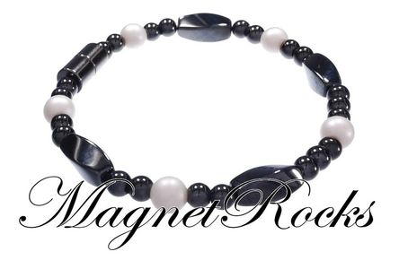 Simply Seductive Jewelry Collection Crystal Pearl Magnetic Hematite Bracelet
