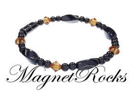 Seductive Jewelry Collection Topaz Crystal Hematite Magnetic Bracelet.