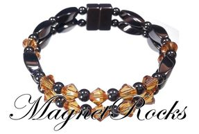 Unity Jewelry Collection Topaz Crystal Magnetic Hematite Bracelet