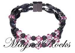 Unity Jewelry Collection Rose Crystal Magnetic Hematite Bracelet