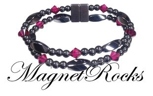 Allure Jewelry Collection Ruby Crystal Magnetic Hematite Bracelet