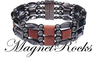 4x4 Jewelry Collection Goldstone Magnetic Hematite Bracelet