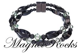 Infinity Jewelry Collection Peridot Crystal Magnetic Hematite Bracelet