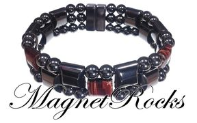 Triple Threat Jewelry Collection Red Tiger Eye Magnetic Hematite Bracelet