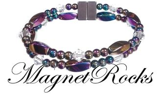 Allure Jewelry Collection Clear Crystal Rainbow Magnetic Hematite Jewelry