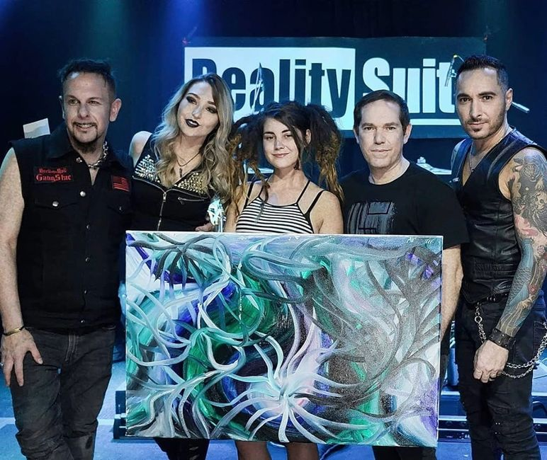 Live Painting for Reality Suite's Live Stream Concert at Alphawave Studios, 2019.