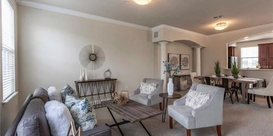 Orlando Florida Home Staging Redesign  Living Room - Finished Touch Designs
