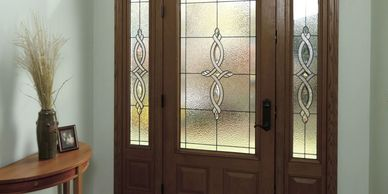 Fiberglass entry doors are durable and beautiful; no maintenance required.