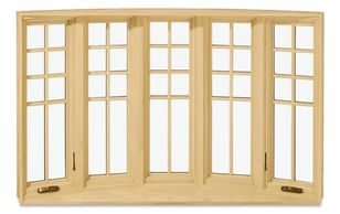 Wood 5 Lite Casement Bow Window from Marvin