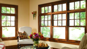 Pella Architect Traditional Series Wood Double Hung Windows