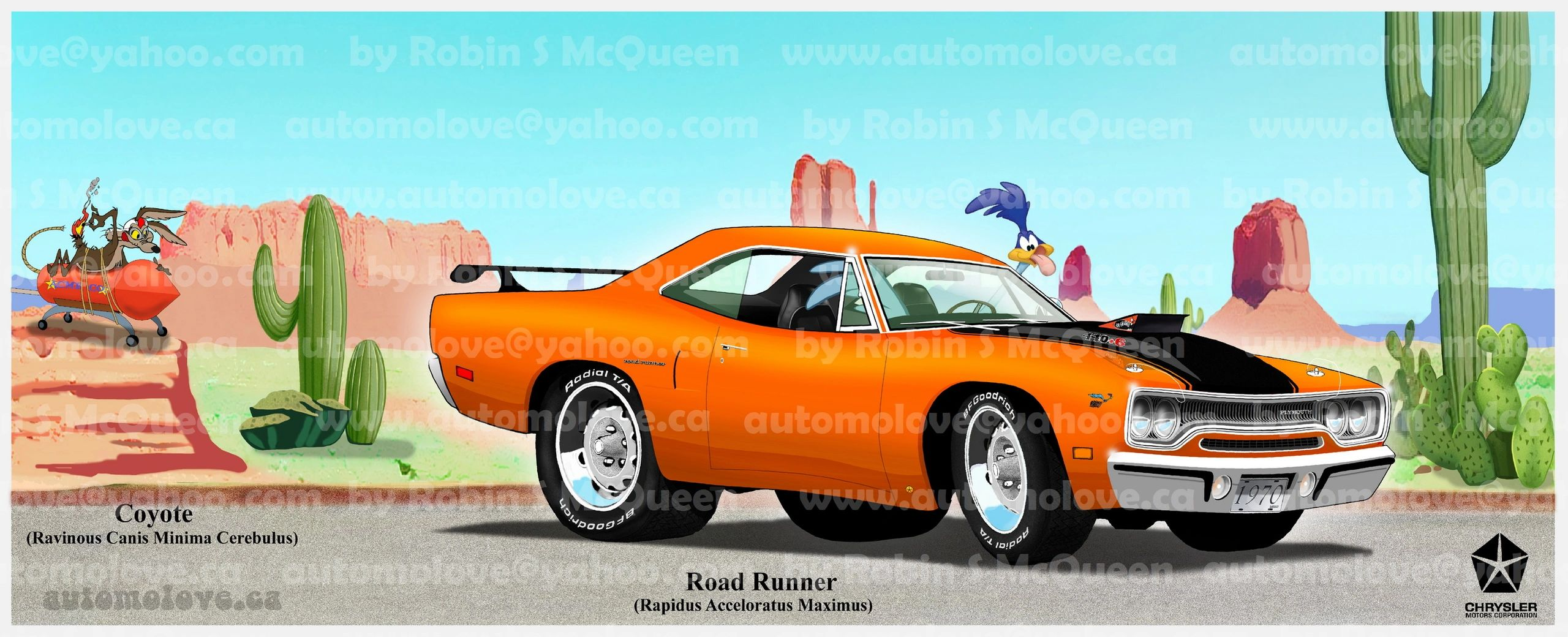 1970 Plymouth Roadrunner in Vitamin C orange, equipped with a 440 Six-Barrel engine and 4 gear.