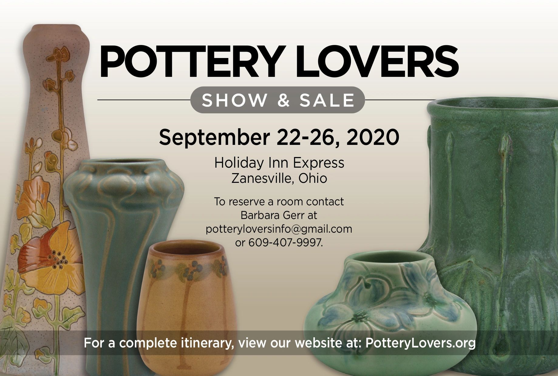 Pottery Lovers Show and Sale Dates