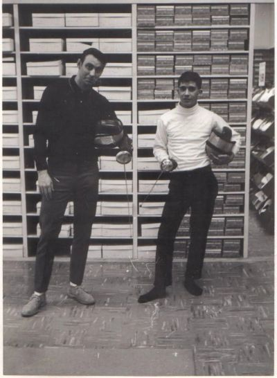 Mr. Fred Weeks training Fencing in 1965