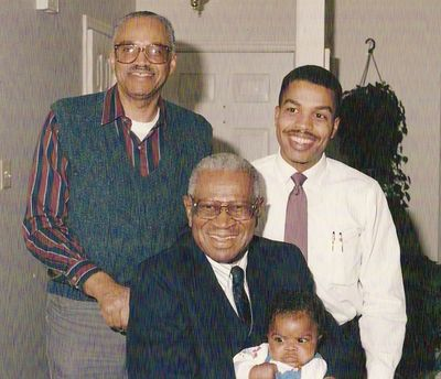 Four generations - My dad, Grand Father, me, and son Jamel.