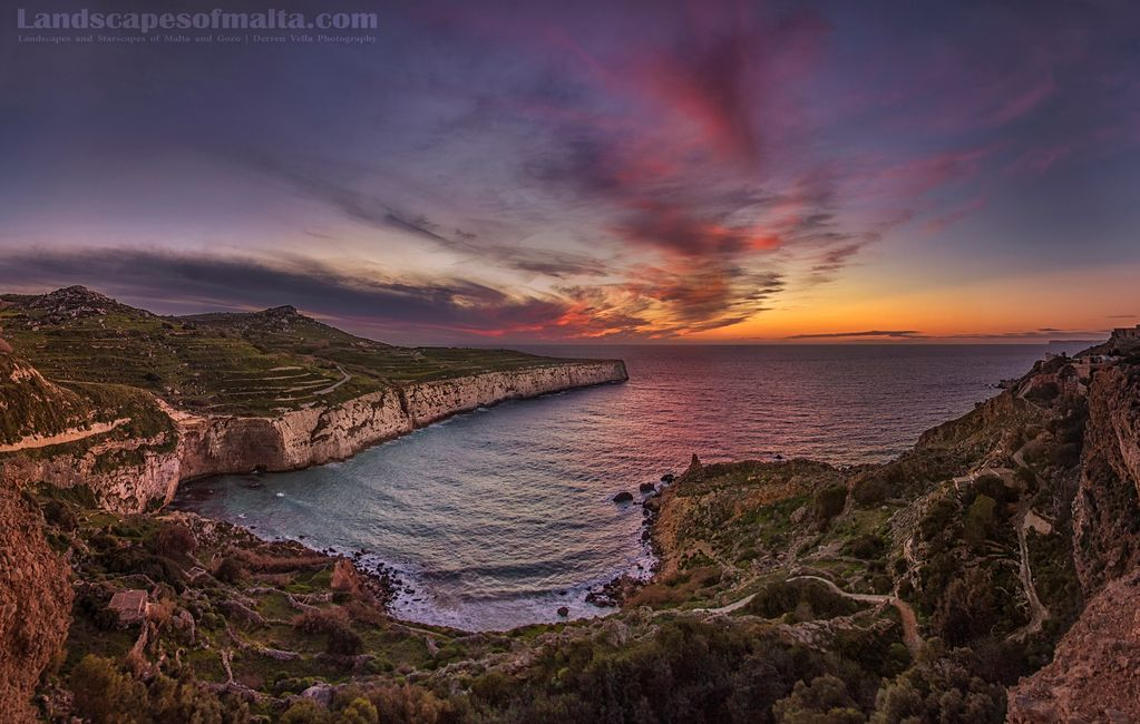 Dusk at il-bajja ta Fomm ir-rih.. BEST SUNSET LOCATIONS IN MALTA AND GOZO