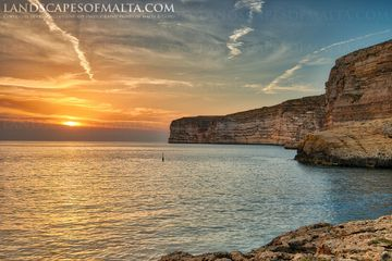 Sunset from Xlendi by in Gozo - Gozo photography by Derren Vella