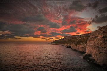 Qammeih after sunset - Mellieha Derren vella fine art landscapes of malta and Gozo at sunset