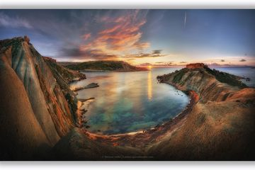 Sunsets in malta panoramas - Fine art Photography, Landscapes of malta and gozo by Derren Vella