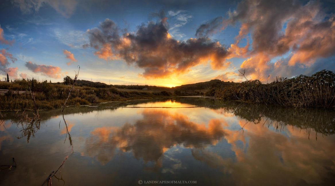 Chadwick Lakes at Sunset - Fine art photographic prints of Malta and Gozo by Derren Vella