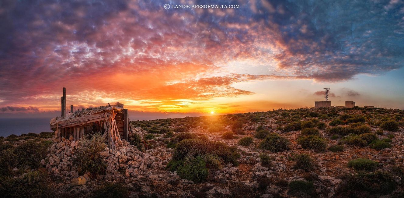 Qammieh at sunset - Derren vella landscapes of malta.