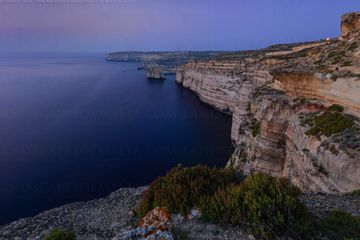 Fungus rock at sunset from wardija punic temple - San Lawrenz Gozo.