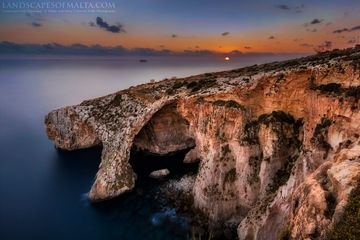 Blue grotto - Natural arch in wied iz Zurrieq - Derren Vella 2017 - Fine art Landscape Photography