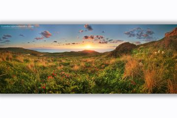 Mtahleb sunset panorama - Fine art Photography,  Panoramas of malta and gozo by Derren Vella