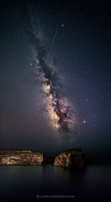 Landscapes and Starscapes of Malta and Gozo. Fine art Prints of the Milkyway from Malta and Gozo.