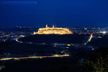 Cittadella at Dusk - Landscpes of Gozo by Derren Vella