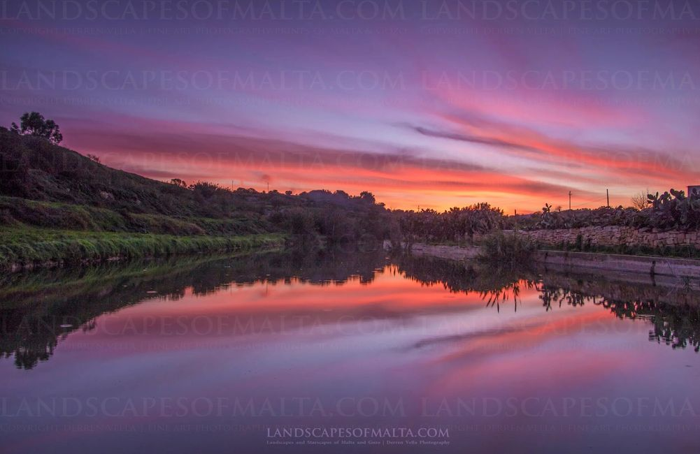 Chadwick lakes in winter  - Fine art and landscapes of malta by Derren Vella