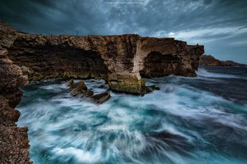 Rough seas at Qammieh Fine art prints - Landscapes of Malta & Gozo | Derren Vella
