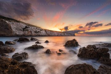 Fomm ir rih bay at sunset. landscapes of malta and Gozo - Derrenvella fineart photography