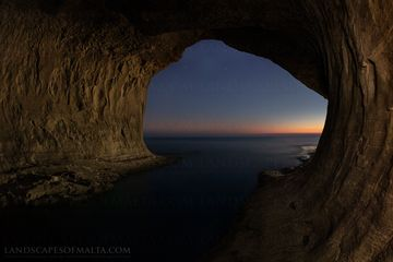 Ta' Marija cave in Mgarr. Fine Art Landscapes of Malta & Gozo.
